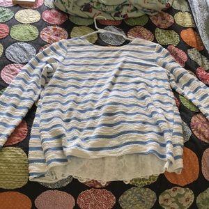 Anthropologie sweatshirt so cute in back!